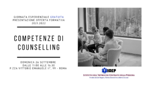 Competenze di Counselling - Open Day in presenza - IACP
